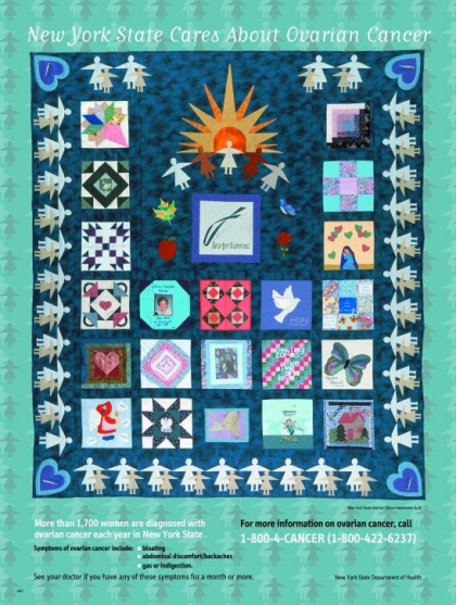 New York State Care About Ovarian Cancer Quilt Poster