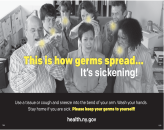 This is how germs spread… It's sickening! (poster)