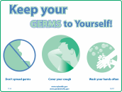 Keep Your Germs to Yourself (poster)