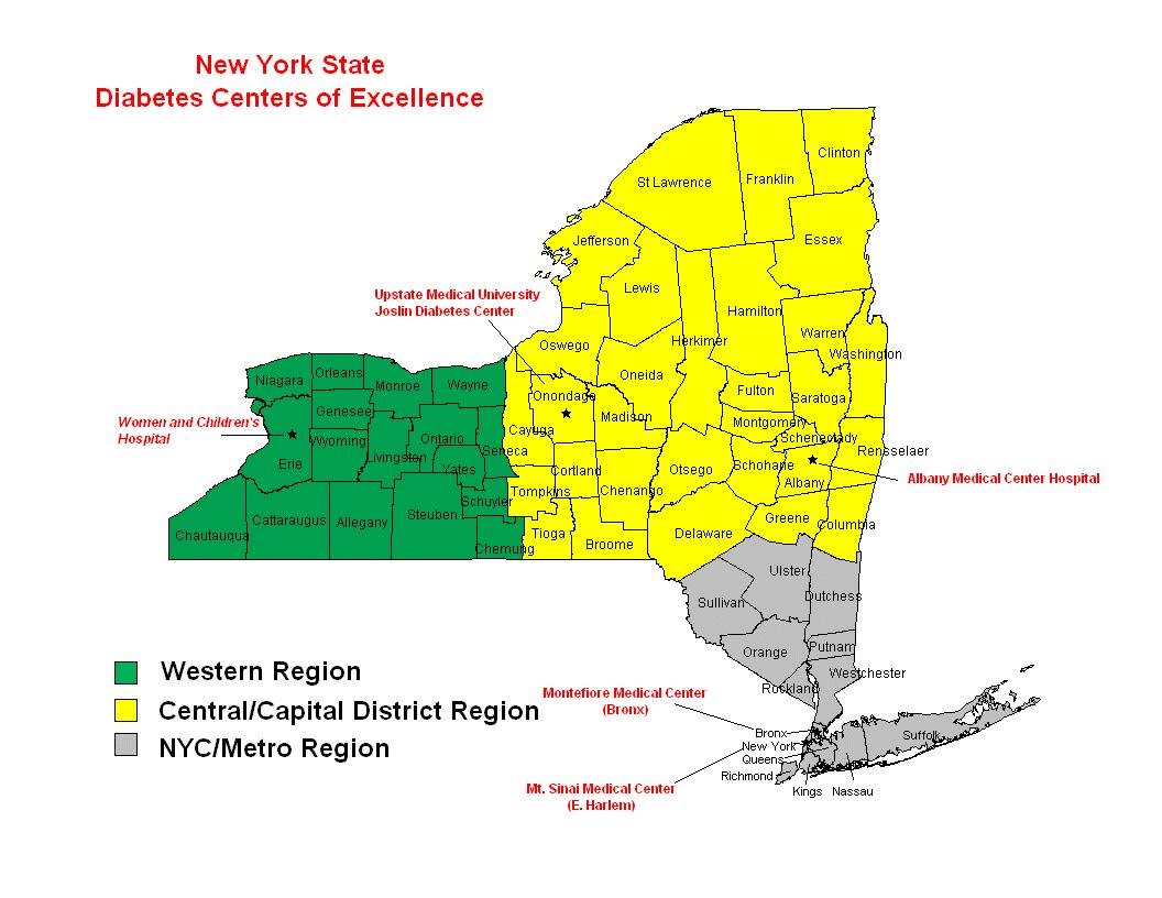 Printable New York State Map