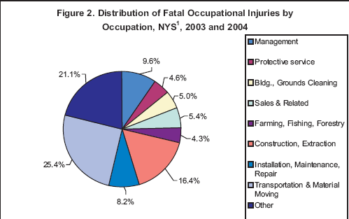 Occupational fatalities in new york state 2003 and 2004 update occupations represented the largest percentage of total fatalities 254 followed by those working in construction and extraction occupations 164 ccuart Image collections
