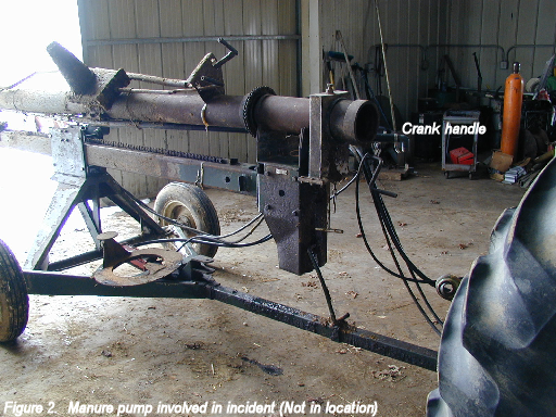 picture of manure pump involved in incident