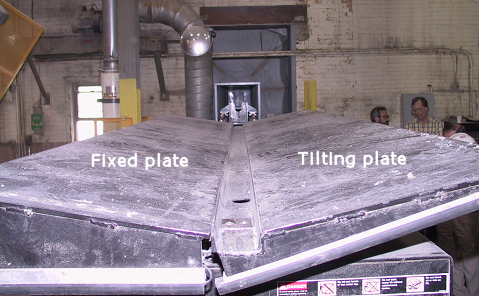 Figure 2 - Tilter that was mounted on top of the lift platform