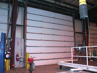 photograph of overhead door