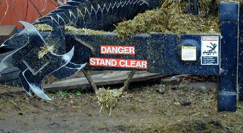 Figure 3 - Silage defacer warnings