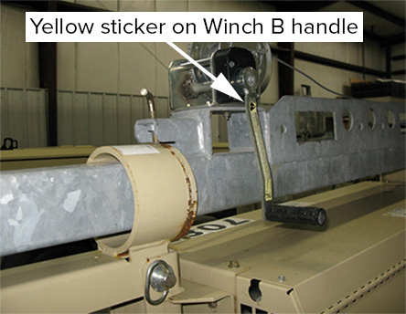 image showing sticker on winch handles