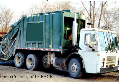 A 21-year-old sanitation worker was riding on