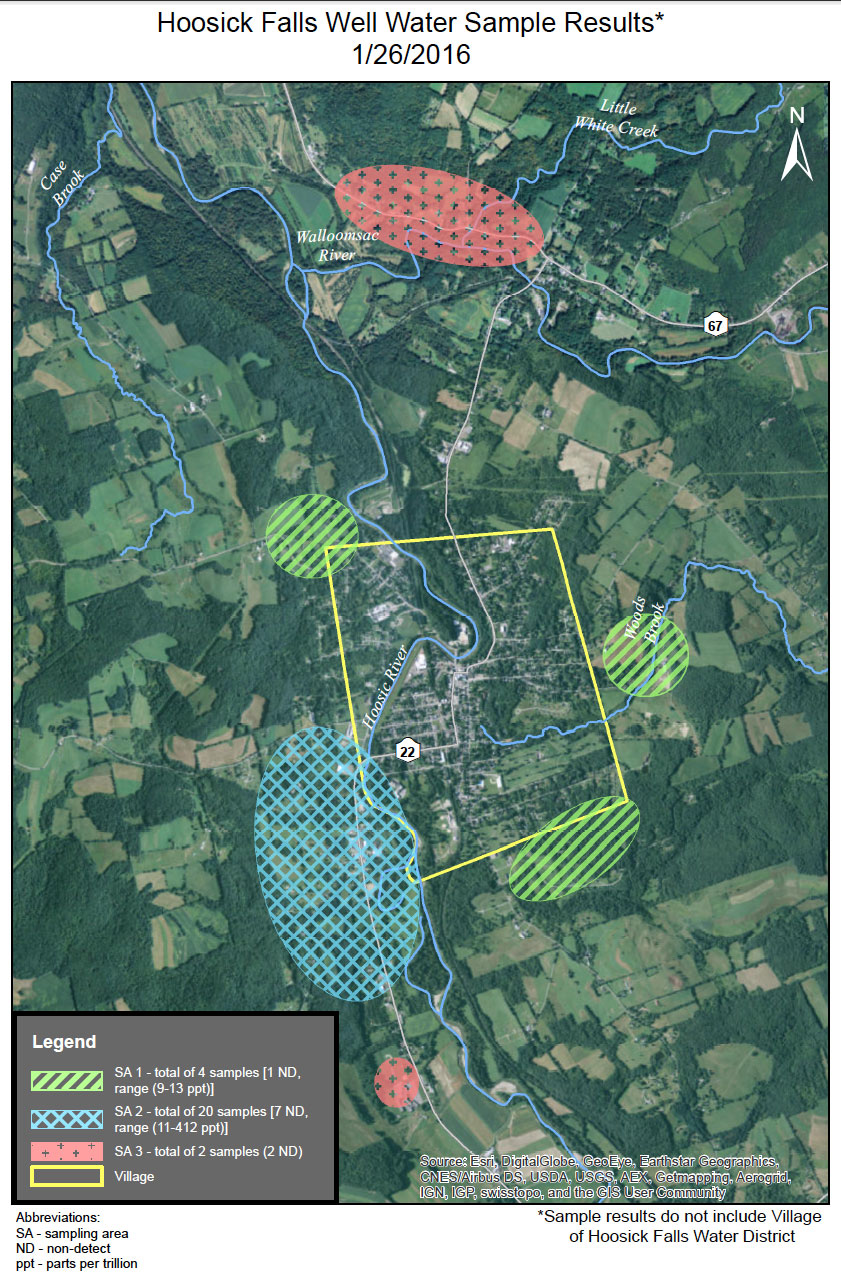 January 26 2016 Private Well Sampling Map