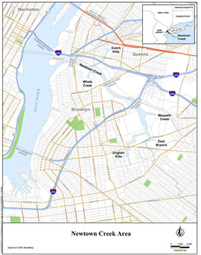 Newtown Creek Map