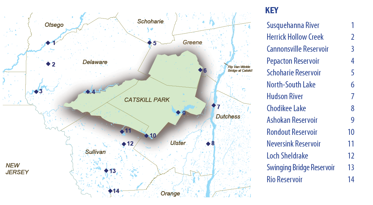 Map of the Catskill Region