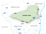 map of Catskill New York waterways