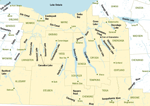 map of Finger Lakes New York waterways