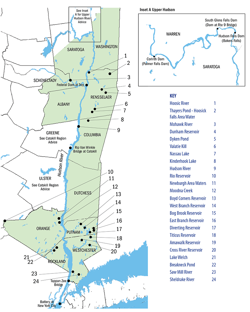 Hudson River & Tributaries Region Fish Advisories