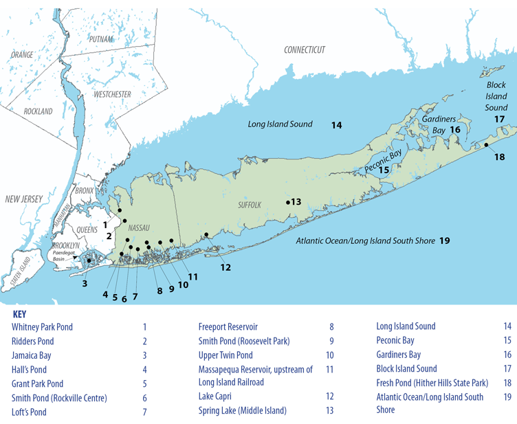 Map of the Long Island Region