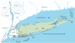 map of Long Island waterways