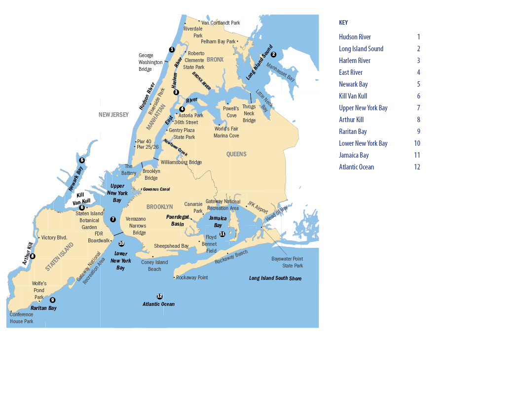 Map of the New York City Region