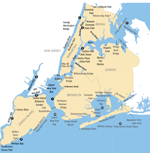 map of New York City Region waterways