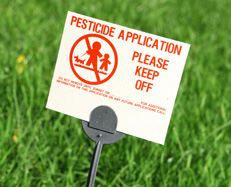 picture of pesticide application warning sign