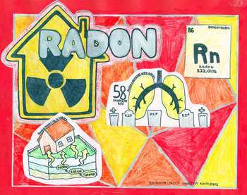 Radon Poster message Get Your Home Tested for Radon