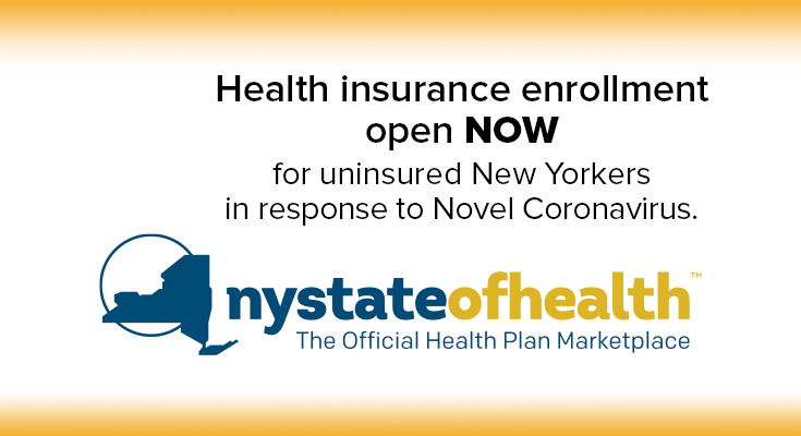 Special Enrollment Period for Uninsured New Yorkers, as Novel Coronavirus Cases Climb