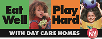 Eat Well Play Hard in Day Care Homes Logo