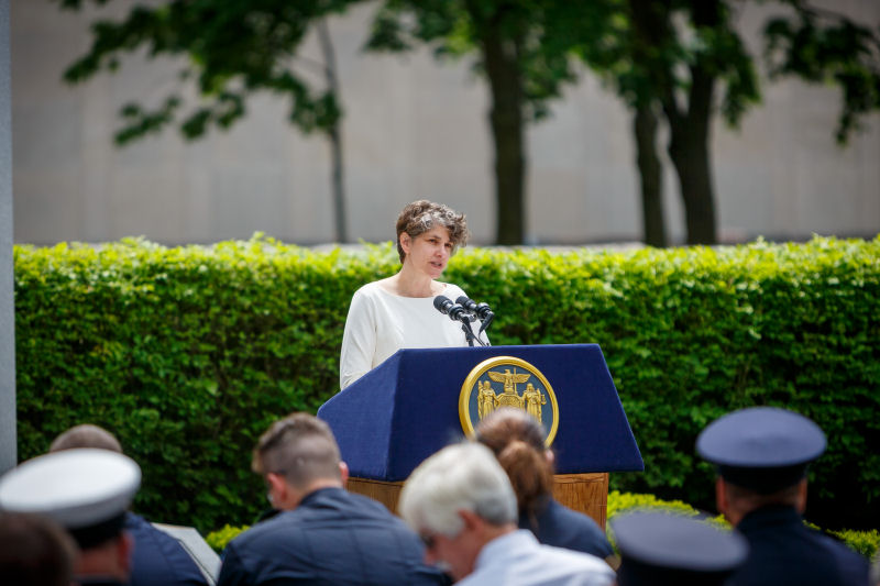 Image of Sally Dreslin - Executive Deputy Commissioner at the NYS Department of Health Speaking