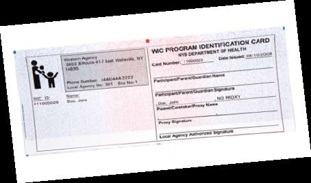Picture of a WIC Identification Card