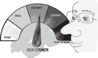 graphic showing how folks measure different odors