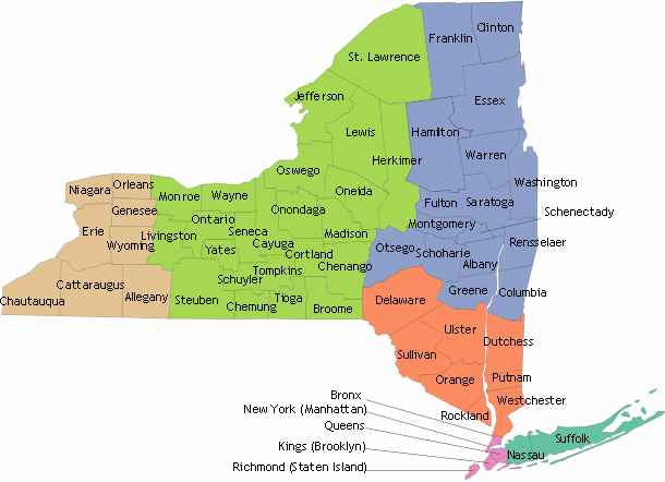 HEAL NY Phase 5 - Projects by Region